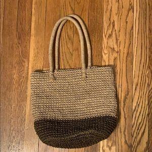J. Crew straw purse